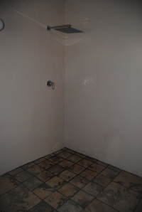 The new walk-in shower