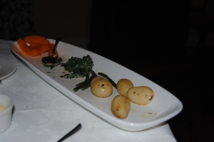 Fresh vegetables from the garden at Cavers Guest House