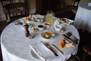 Breakfast at Cavers Guest House, Bedford, Eastern Cape was a home baked affair with home baked flap jacks and freshly home made jams and lemon drinks